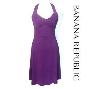 NEW Halter Neckline A-Line Cocktail Dress Purple